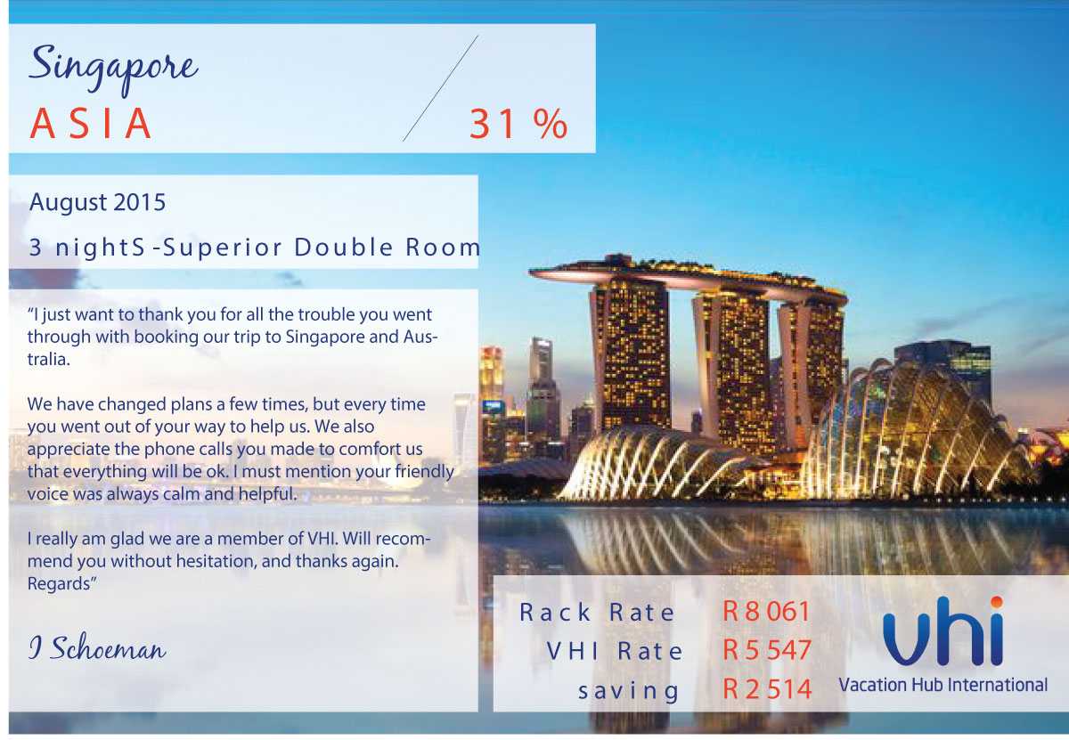Vacation Hub International - Member Review - Singapore