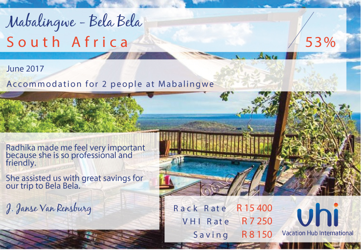 Vacation Hub International - Member Review - Mabalingwe - Bela Bela
